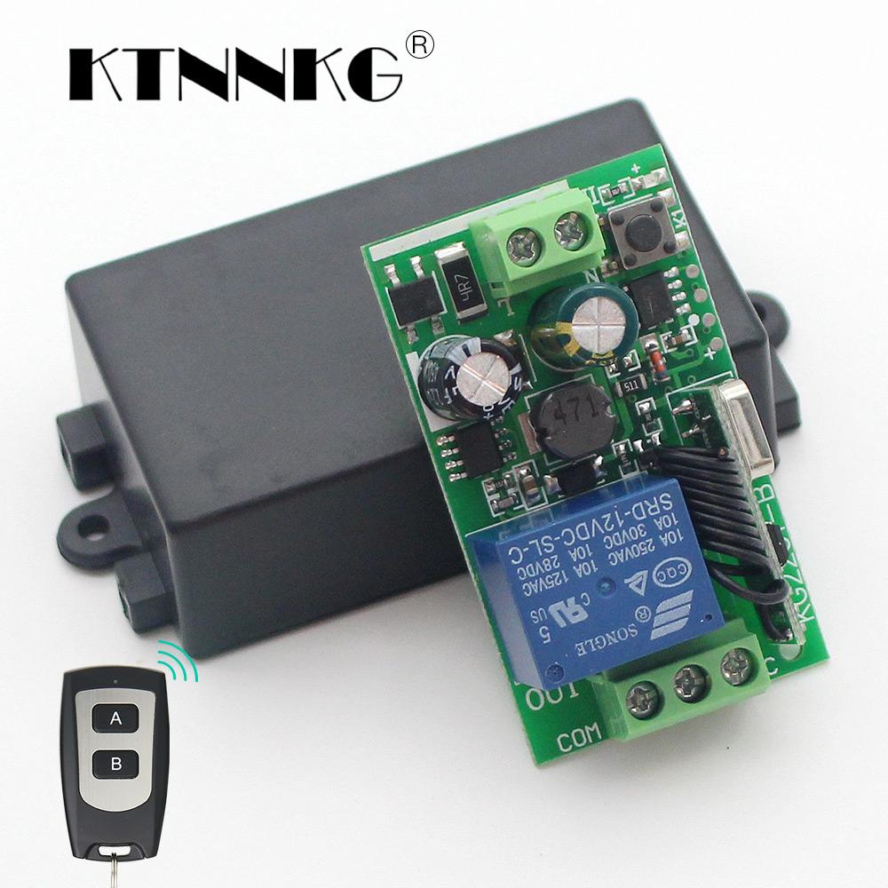 Ac110v 220v 250v 1ch Wireless Remote Switch Diy Relay Module Smart On And Off The It Self Is Turning A 220vac Circuit Home Intelligent Receiver Universal 433mhz Rf Transmier Automation Project