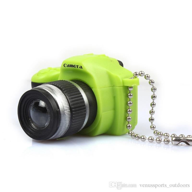 lampe de poche LED trousseau torche caméra flash LED Lumière Son obturateur porte-clés lampe de poche min de la caméra porte-clefs mini-torche