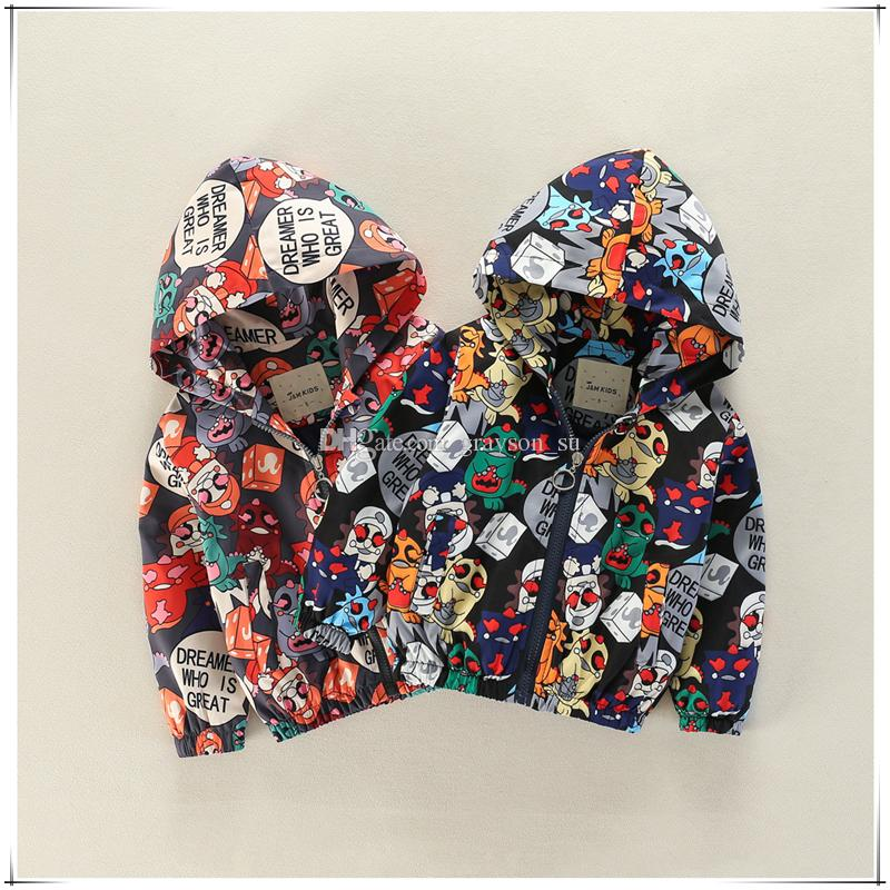 Baby Boys And Girls Long Sleeve Monster Printed Hooded Jacket ... bf2831b8fae30