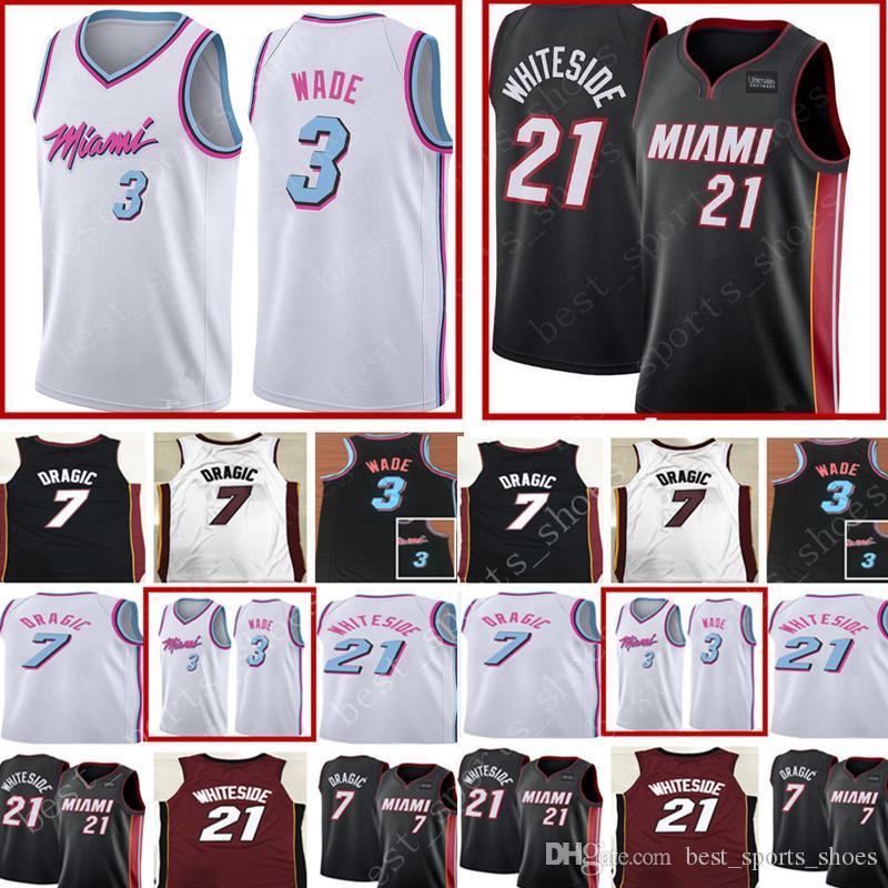 cf23bed47 ... canada new 3 dwyane wade heat hassan jersey mens 7 goran dragic 21  hassan whiteside basketball