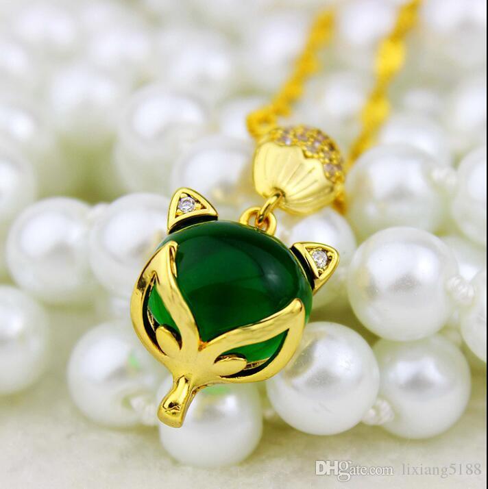 Vietnam'da elmas kolye altın imitasyon altın zinciri