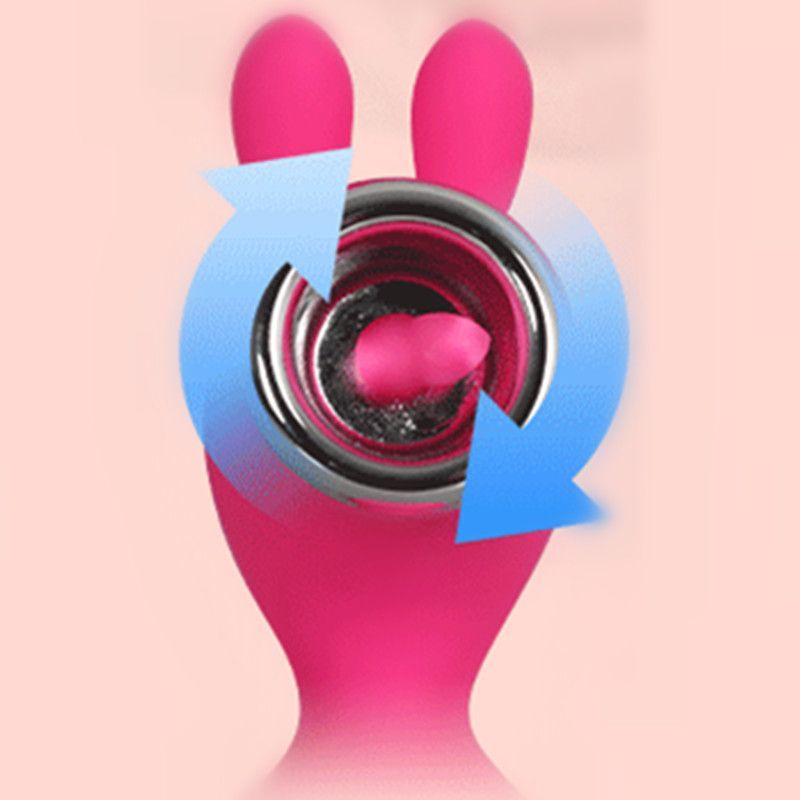 Silicone Tongue Licking Vibrating Nipple Massager Clitoral Stimulator Rabbit Vibrators Female Masturbator Toys for Women A1-2-34