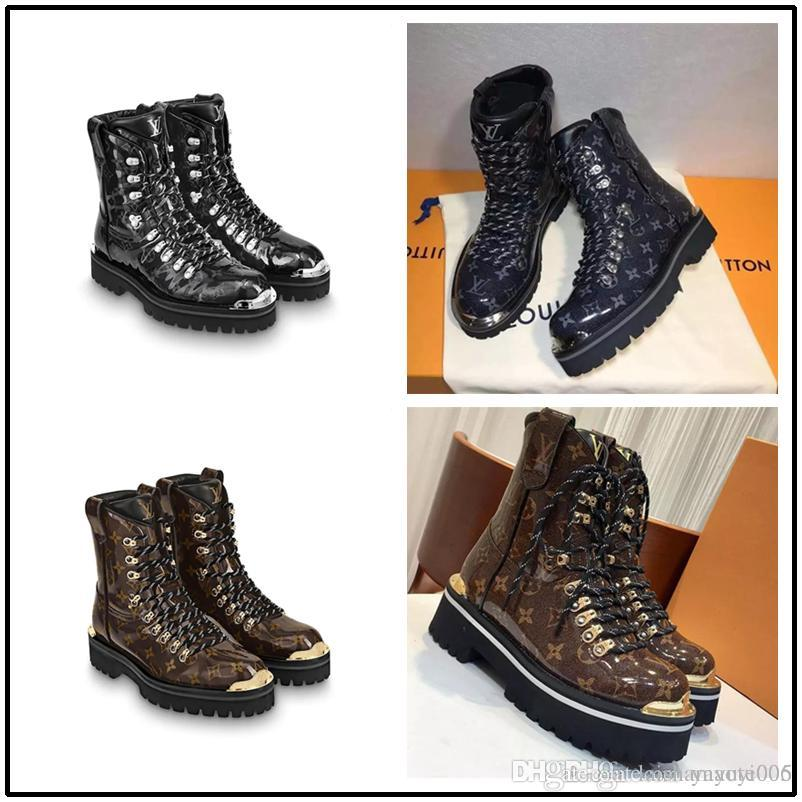 7bea2b988 Best Luxury Brand Classic Hiking Shoes For Men And Women Superstar Brand Ankle  Boots With Glossy Monogram Glaze Canvas Size 35 45 Ladies Shoes Moon Boots  ...
