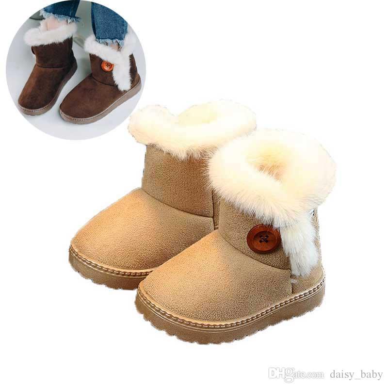 d9313708 Compre Botas De Nieve Para Niños Invierno 2018 Niñas Niños Botas De Tobillo  Para Niños Zapatos Bebé Niñas Pequeñas Botas Con Piel Espesar Calientes  Zapatos ...