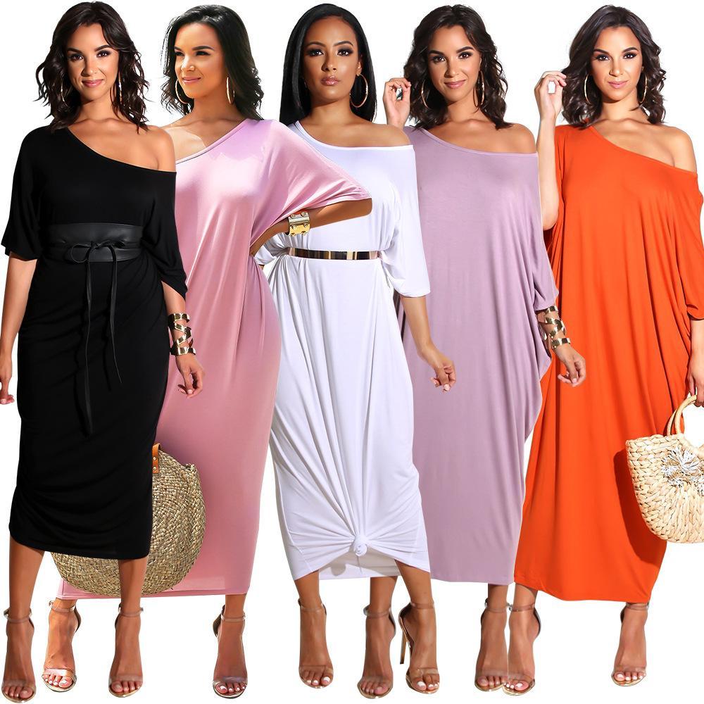 8bb3a180c8255 Loose European Casual Dresses 2018 for Women Plus Size CHEAP Autumn Dress  Ladies Dresses Summer F0259/ 5 Colors