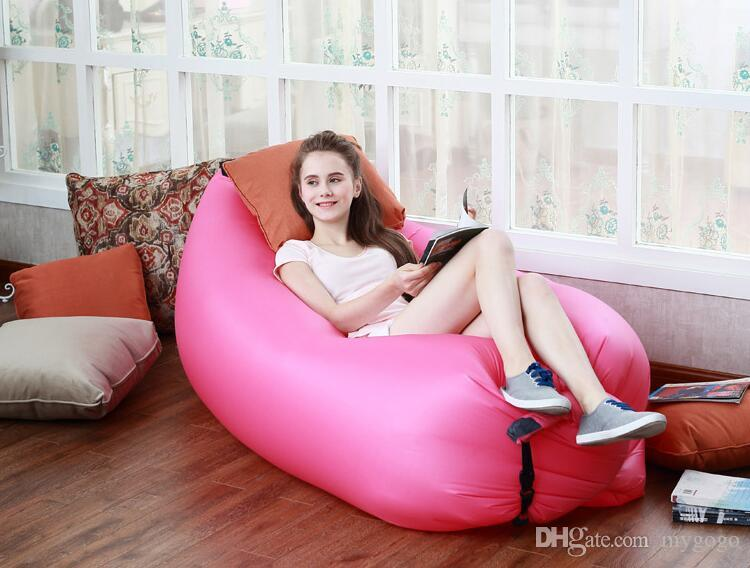 10 farben DHL Lounge Schlafsack Faul Aufblasbare Sitzsack Sofa Stuhl, Wohnzimmer Sitzsack Kissen, Outdoor Selbst Aufgeblasen Sitzsack Möbel