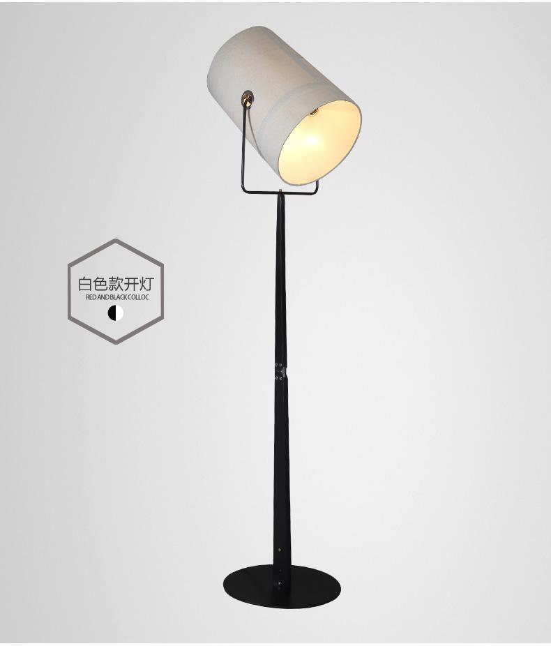 İskandinav yaratıcı zemin lambaları modern basit oturma odası yatak odası çalışma otel modeli odası tasarımcı lambaları