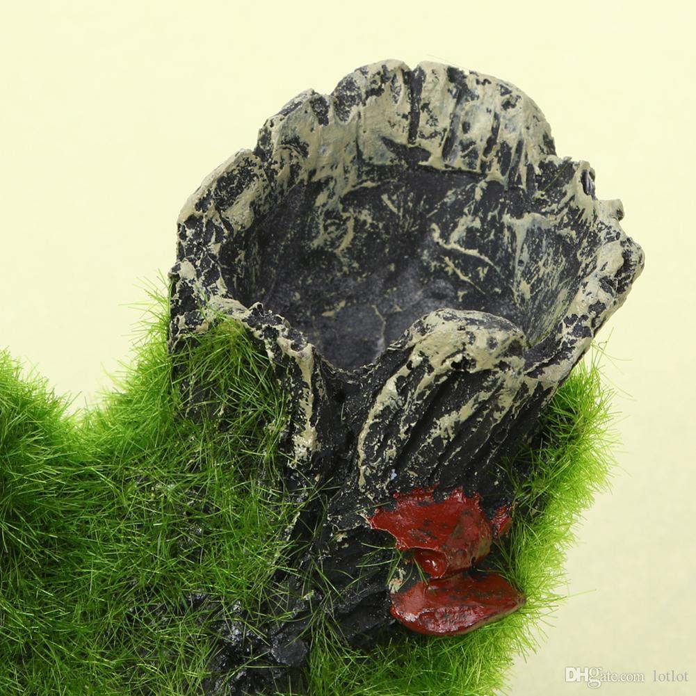 Аквариум украшения смолы вид на горы рыбы играть дерево дом отверстие пещера декор для аквариума Аквариум Украшения Украшения