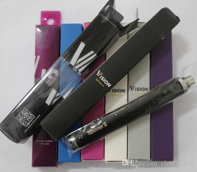 Vision spinner II 1650mAh Ego torsion 3.3 4.8V vision fileuse batterie 2 de tension variable pour les cigarettes électroniques DHL