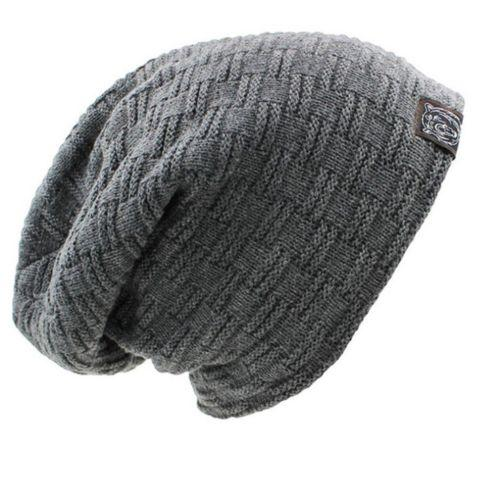 Compre 2018 Gorros De Hombre Sombrero De Punto Gorra De Invierno ... 049f8ece952