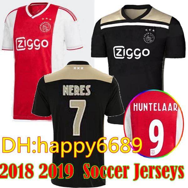 9c814f8f8 ... get 2018 new 2018 ajax soccer jersey 18 19 ajax away soccer jerseys  shirt customized 10