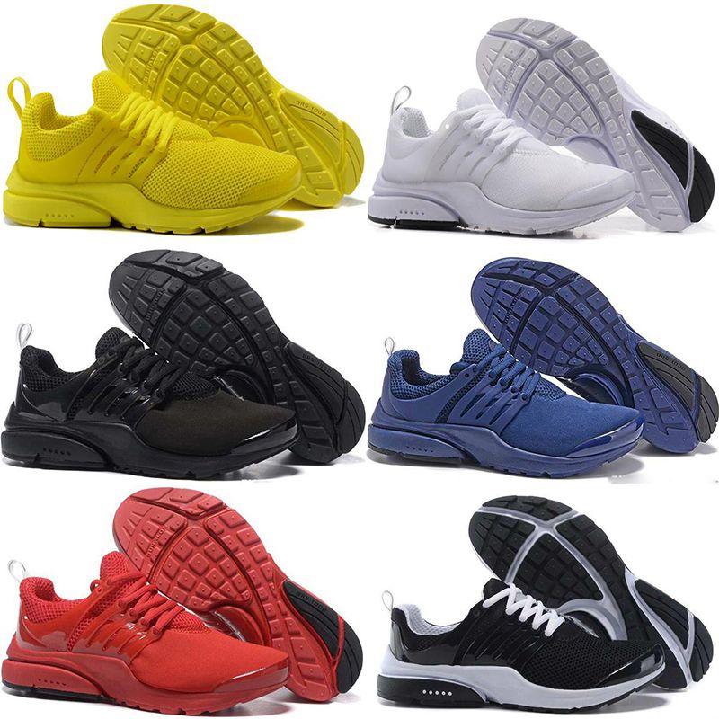936e040df2fa4 2018 PRESTO 5 BR QS Men Women Running Shoes Triple Yellow Black ...