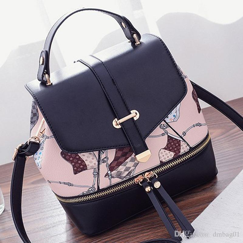 78e269ec16c9 Choose Korean Luxury Designer Handbags Pu Leather Backpack Retro Tote Cross  Body Bag Women With Print And Zipper Shoulder Bag Hobo Bags Designer Bags  From ...