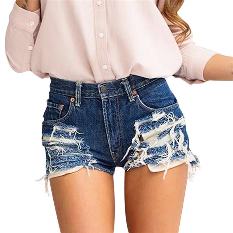 Acheter Été Sexy Femmes Shorts Tassel Jeans Retour Zipper Taille Haute  Pantalon Court Femme Denim Bf Punk Shorts 40 De  28.31 Du Xiayuhe  cdb2338b907