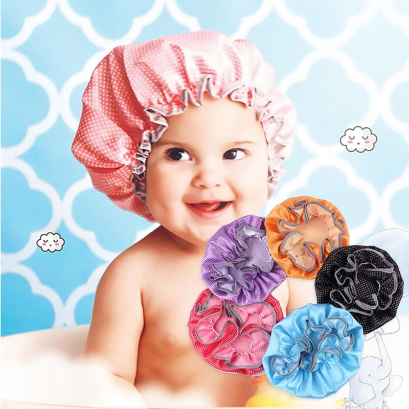 d03b545d7c8 2019 Convenient Baby Shower Cap Kids Waterproof Elastic Bath Hat Hair Wash  Shield Baby Care Protecter From Beasy