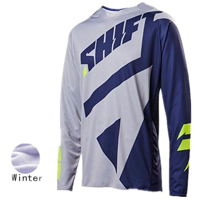 143e1efd9a39d Freies Verschiffen Motocross Jersey Fleece Shirt Motocross Winter DH XS  Mountainbike Kleidung Motorrad Langarm T-Shirt ZU 6XL