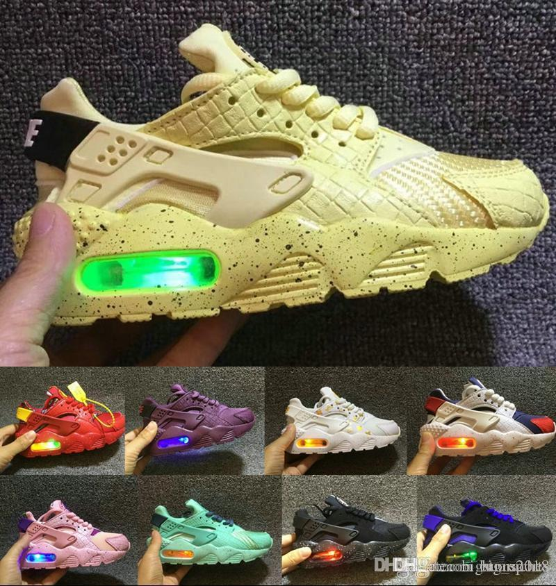 Kids Running Shoes Sport Air Ultra Athletic Huaraching Speed Off Trainer White Cross Children Girl Boys Boost Sneakers Max 38 Children's Shoes Boys