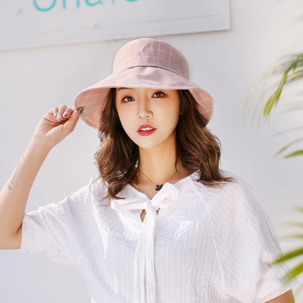 5e86e89409d Ladies Hat Fashion Bow Lattfisherman Hat Spring Summer Outdoor Travel New  Leisure Sun Hat Folding Cup Cap Trucker Hats Boonie Hat From Playnice