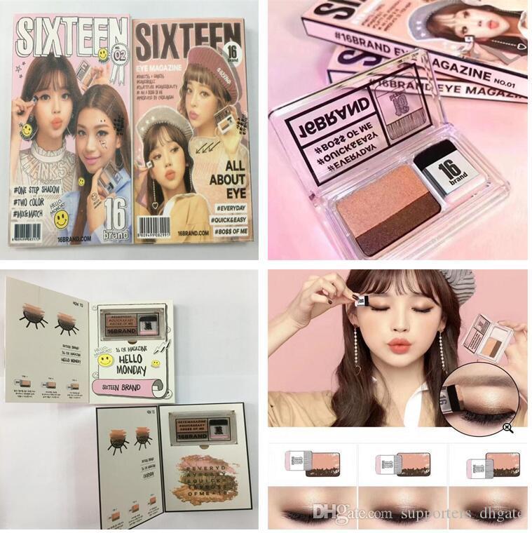 Sixteen 16 Brand Double Color Eyeshadow Eye Magazine One Step Eye
