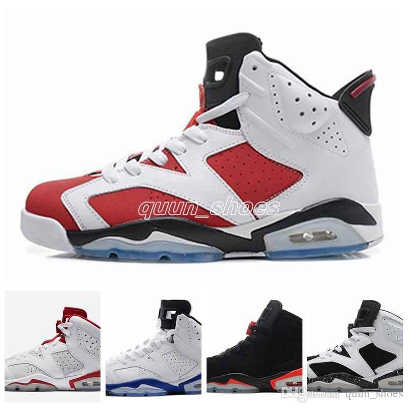 4ec4d6bc9ef2cc New Air 6 Mens Basketball Shoes Carmine Black Cat Infrared Sports Blue  Maroon Olympic Alternate Hare Oreo Chrome Angry Bull Sneaker Baseball Shoes  ...