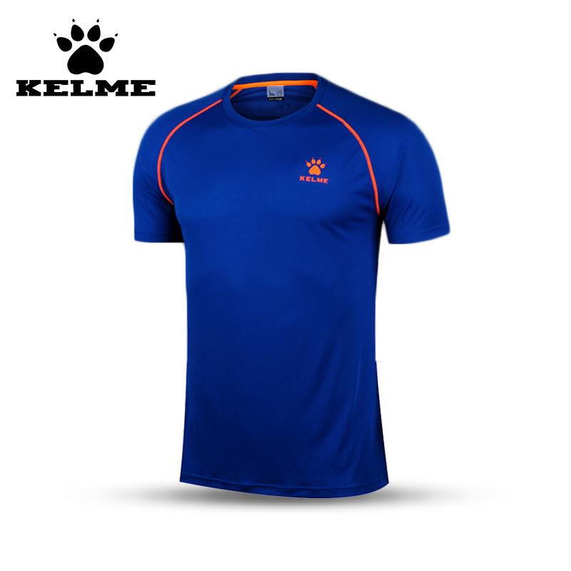 f641acaf4ff1 2019 KELME Brand New Arrival 2016 Running Shirt Men Dry Fit Summer Tops  Slim Sport Shirt Quick Dry Men Soccer Jerseys Cheap 06 From Shinyday