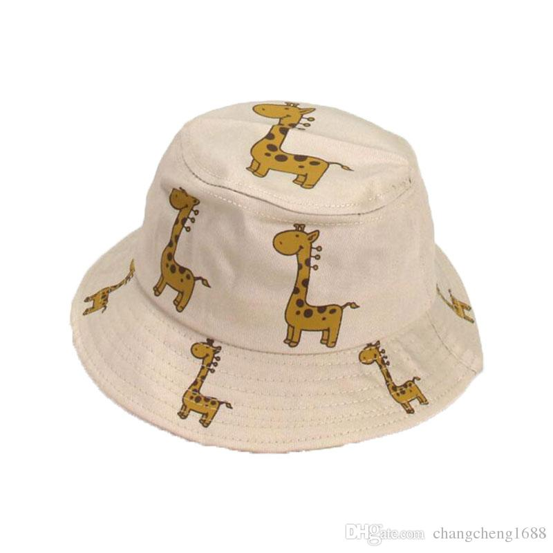 5df56594517 2019 Child Bucket Hat Animal Print Cotton Unisex Fisherman Cap Outdoor  MZ6053 Spring Beach Hat Boys Girls Kids Summer Child Cap Hat From  Changcheng1688