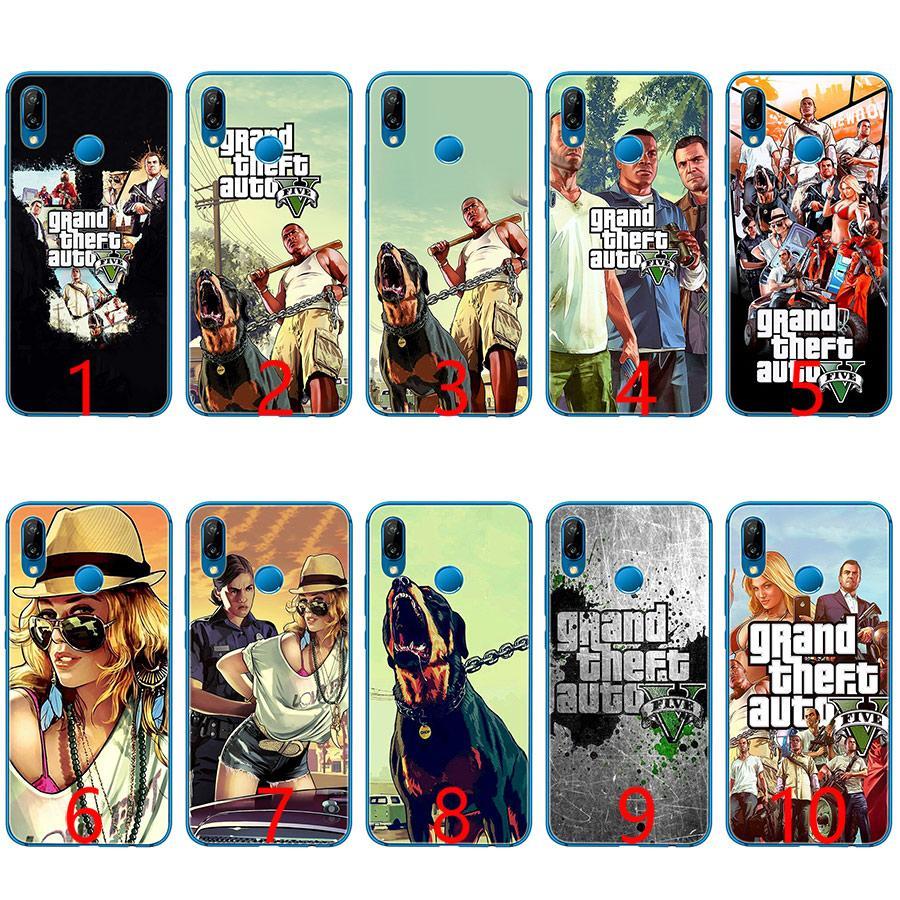 Grand Theft Auto GTA V Soft Silicone TPU Phone Case for Huawei Honor 7A Pro  6A 7X 8 Lite 9 Lite 10 Cover