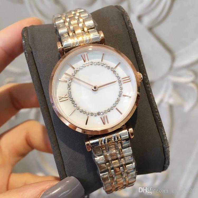 430762898e0 Compre Novo Modelo De Aço Inoxidável Mulheres Assistir Rose Gold   Prata  Relógio De Pulso Butterf Lady Moda De Luxo De Quartzo Relógio De Strass  Relojes De ...