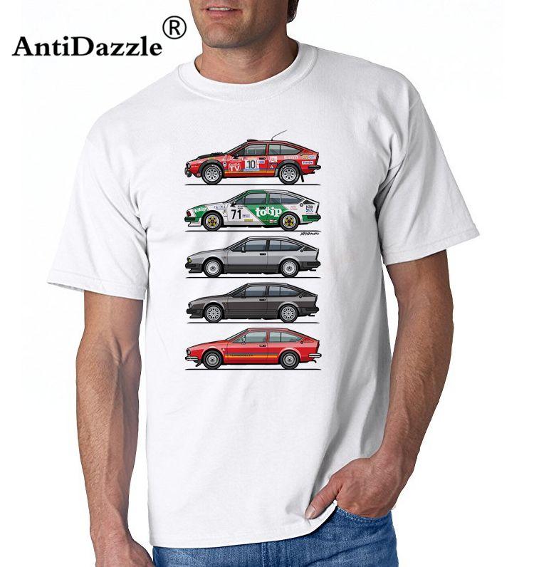 T Shirt Alfa Romeo Alfetta Gtv Autodelta Squadra Totip Car Mens - Alfa romeo apparel