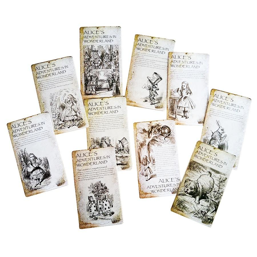 New vintage style alices adventure in wonderland post card set new vintage style alices adventure in wonderland post card set greeting card christmas gift christmas greetings cards christmas gift card christmas online m4hsunfo