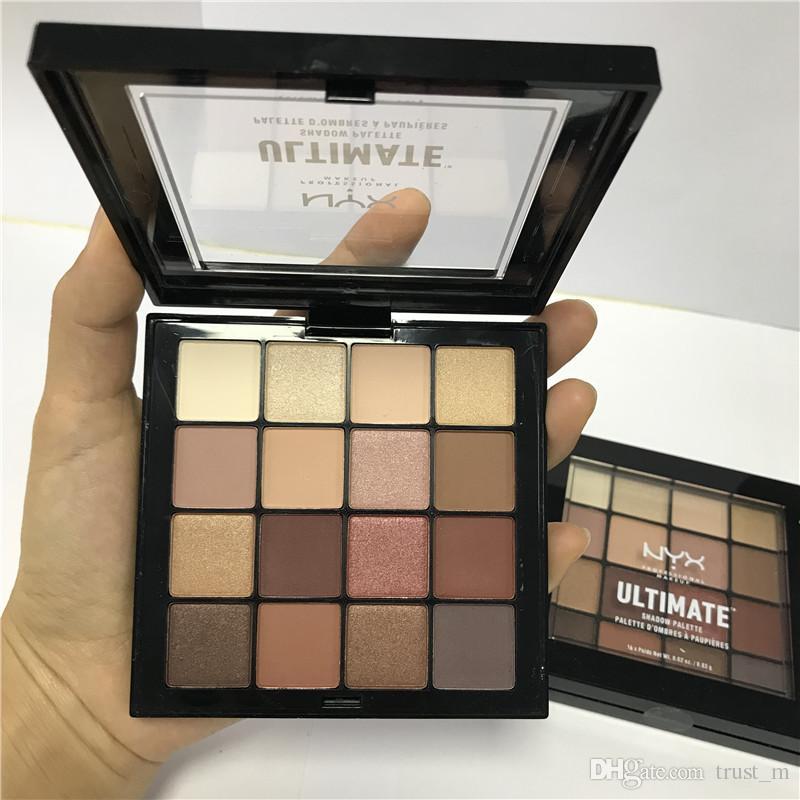 ¡¡¡La mejor calidad!!! NYX ULTIMATE Paleta Sombra de Ojos Ombre Paleta Sombra de Ojos Shimmer Mate Maquillaje Cosmética paleta Envío gratis