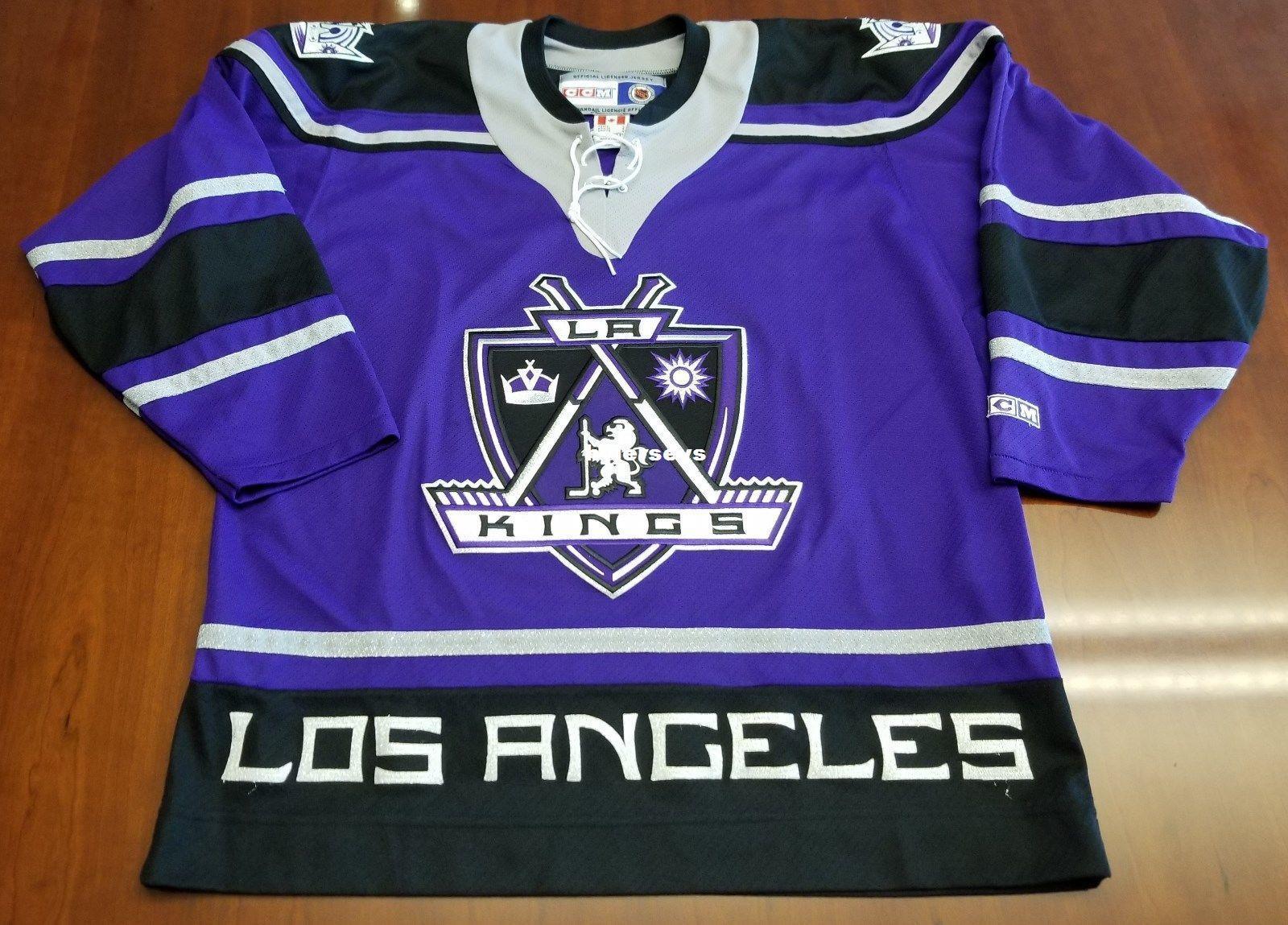 ce7f6722 ... cheapest 2018 wholesale custom los angeles kings vintage ccm cheap  hockey third jersey purple mens retro
