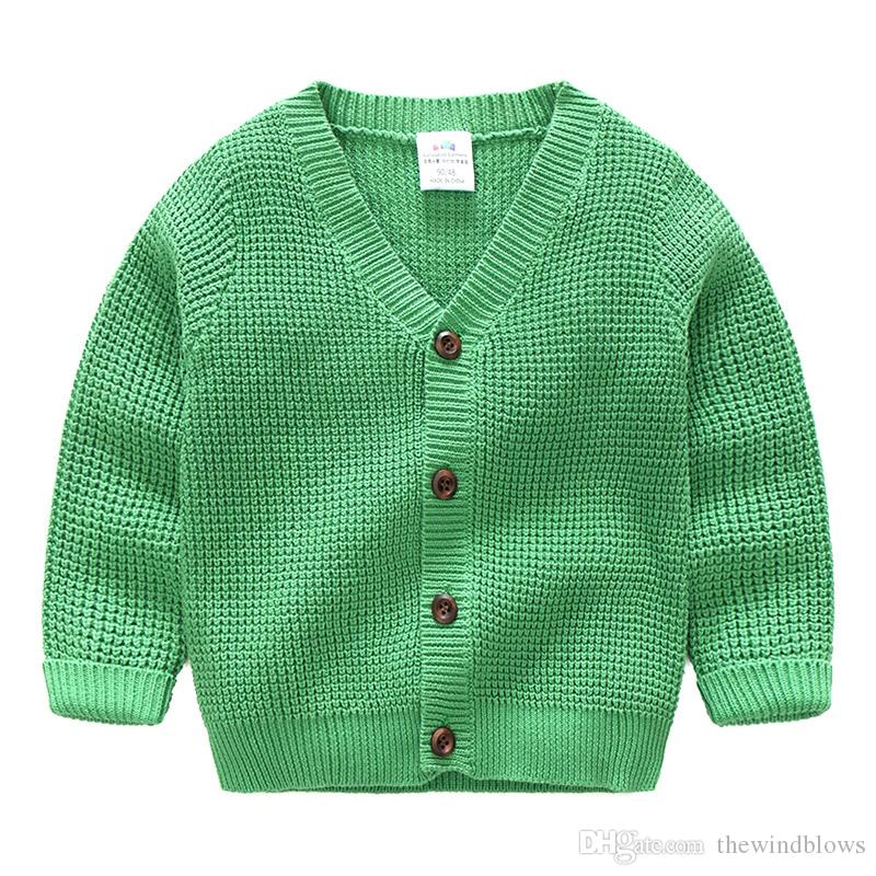 568bb6d8622d 2018 Boys Sweaters Baby Boys Cardigans Knit Wear For Kids Clothes ...