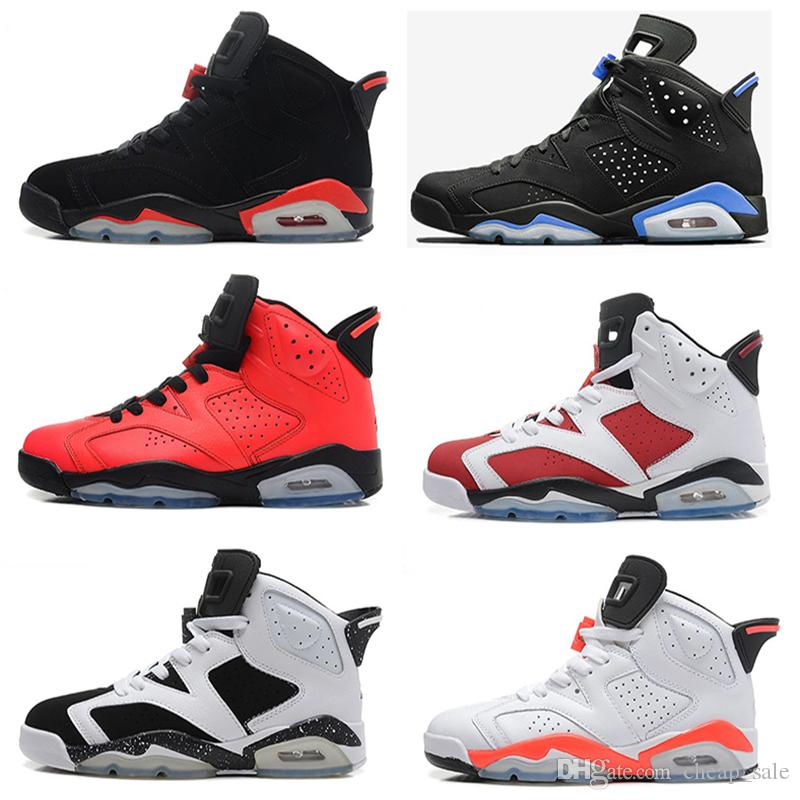 2018 Cheap Basketball Shoes 6 Maroon Olympic Angry Bull Black Cat Infrared  Oreo Carmine Alternate Hare Chrome Sneaker Sports Sale Size 8 13 Womens ... ee9dc57c9bf8