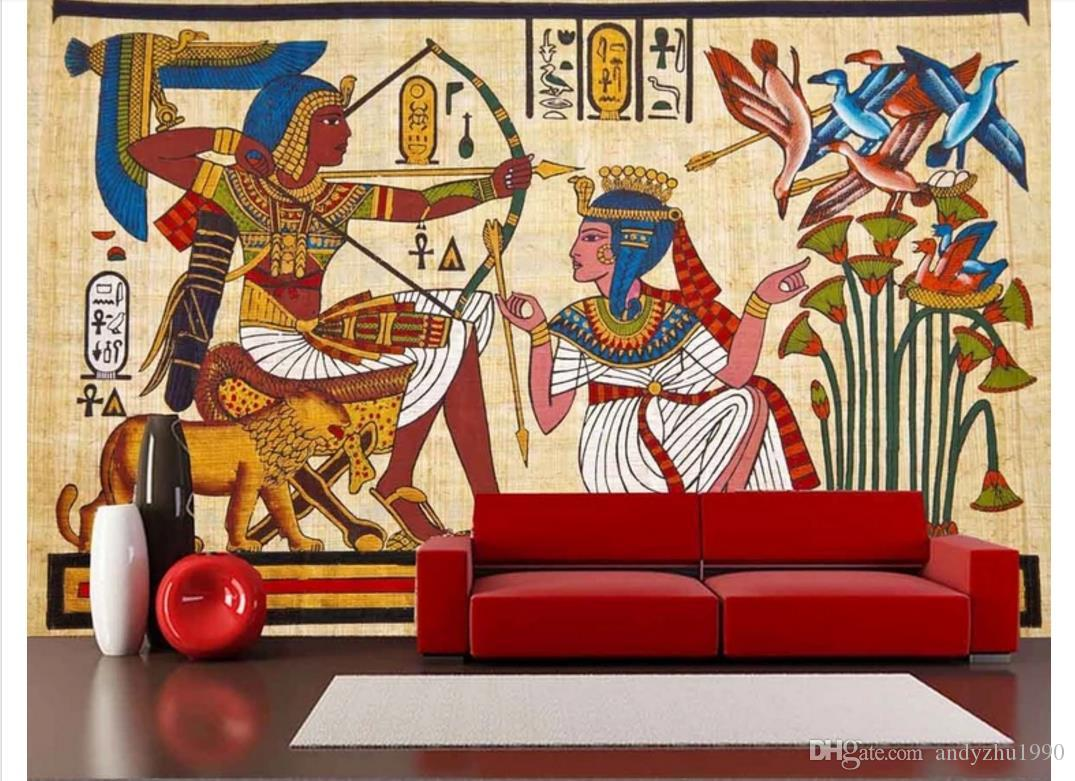 Wholesale-murals-3d wallpapers home decor Photo background wallpaper 3d classical Egyptian European mural painting TV large wall art mural