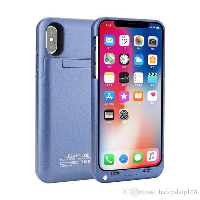 """New For iphone X External Battery Backup Power Bank Charger Cover Case Powerbank case for iPhone 7 8 Plus 4.7"""" 5.5"""" inch MOQ"""