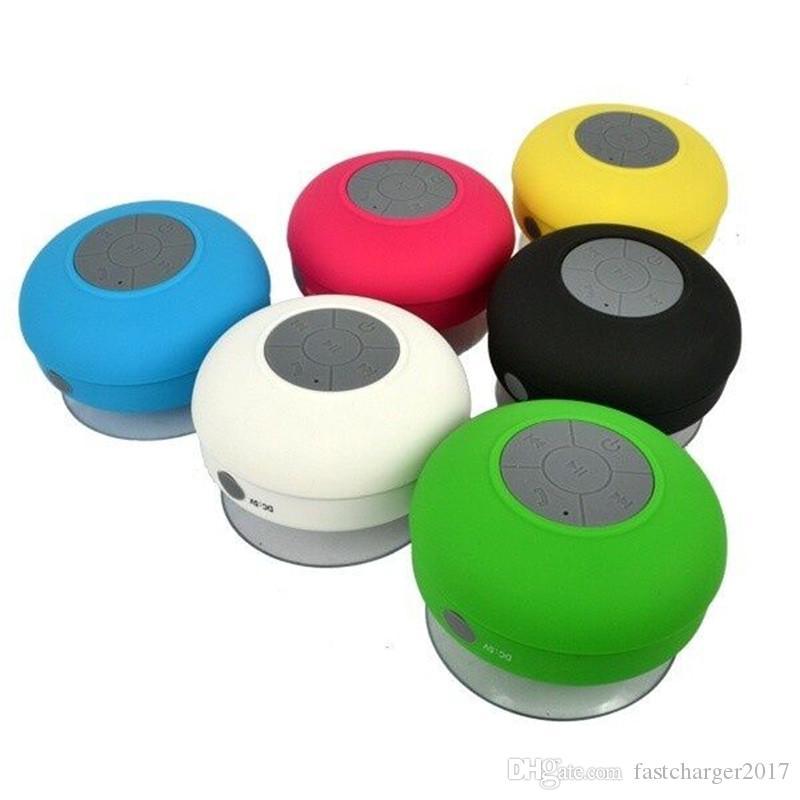 Altoparlante Bluetooth Altoparlante auto vivavoce doccia senza fili impermeabile iPhone 6 7 8 Cellulare Smasung S6 S7 S8 DHL libero