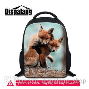 e8e413011966 Cute 3D Animal Fox Print Small Bookbag Back Pack For Kindergarten Children  Little Boys Girls Daypack Book Rucksack 600D Polyester Kids School Bags Bags  For ...