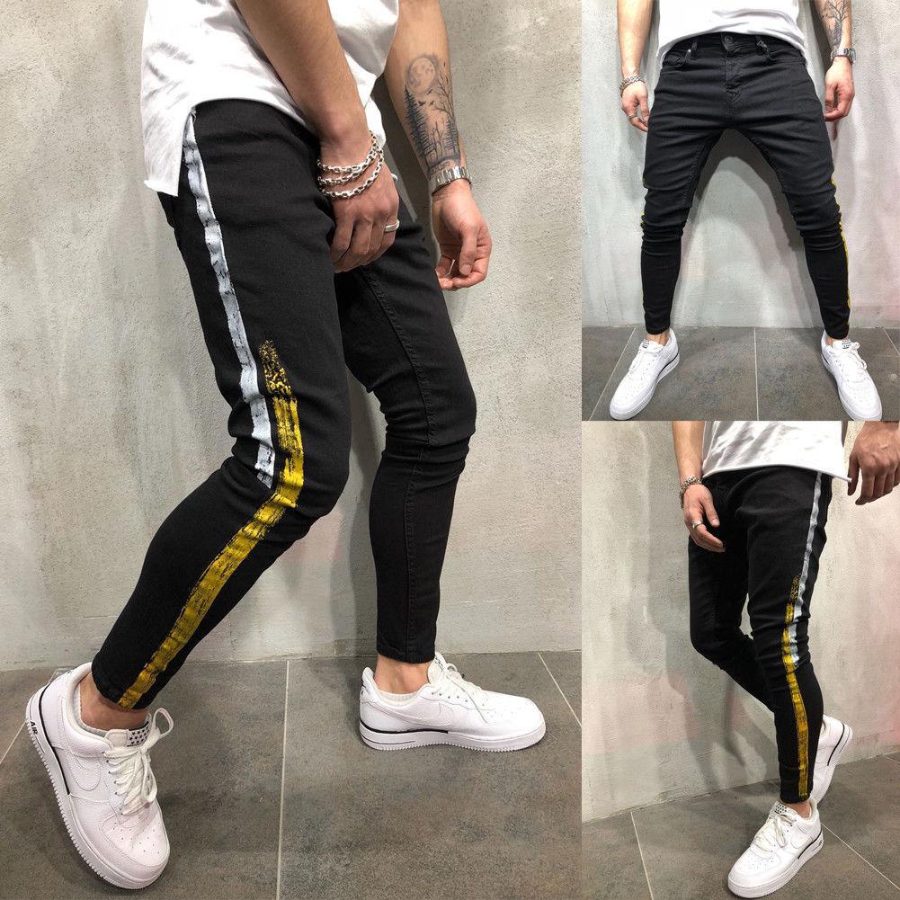 59dbe6f869 Compre Pantalones 2018 Nuevos Hombres De La Marca Slim Fit Urbano Pierna  Recta Hip Hop Pantalones Ajustados Pantalones De Chándal Ocasionales  Pantalones ...