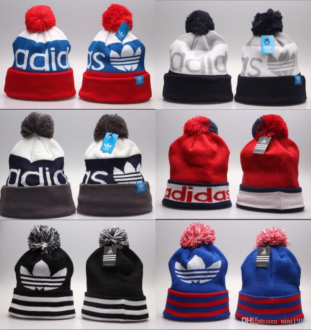 91a7490bc98 for Men Women Knitted Hats Fashion Winter Knit Beanie Caps Sport ...