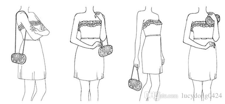 Diamonds Elegant European and American Pearl Banquet Bag Lady Bride Wedding Dress Hand Bag