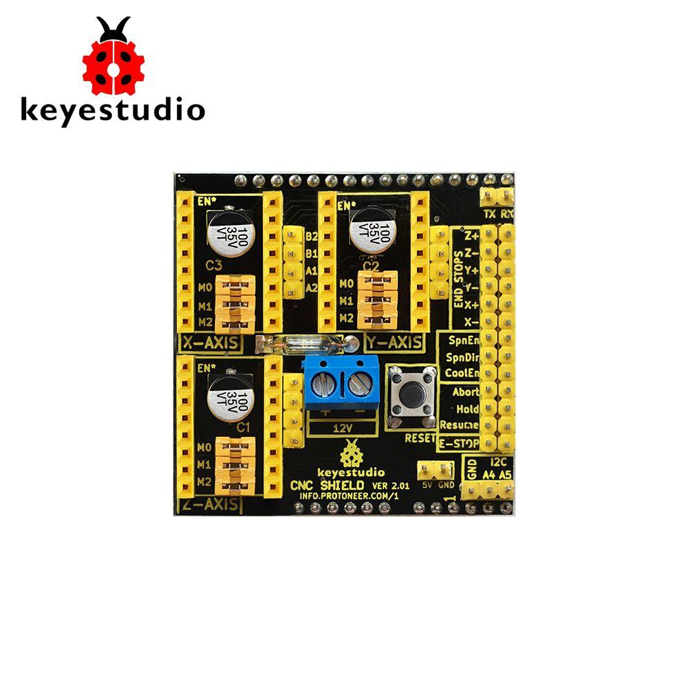 Free shipping! Keyestudio CNC Shield Board V2 Engraving Machine Step Motor  D river for Arduino 12-36V DC