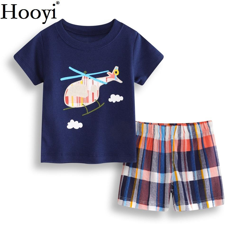 80c1cf6d093ed 2019 Helicopter Baby Boy Clothes Suit 6 9 12 18 24 Month Newborn Clothing  Sets Children T Shirt Pant Summer Outfit Soft 100% Cotton From Humom