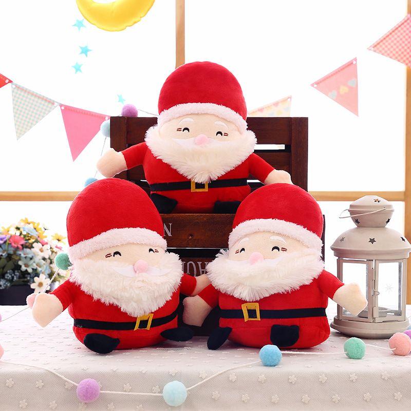 Christmas Decorations Cute Santa Claus Plush Dolls Stuffed Toys Xmas
