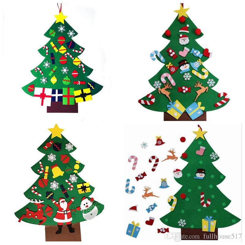 Felt Christmas Tree Diy Christmas Tree Ornaments Wall Decor With