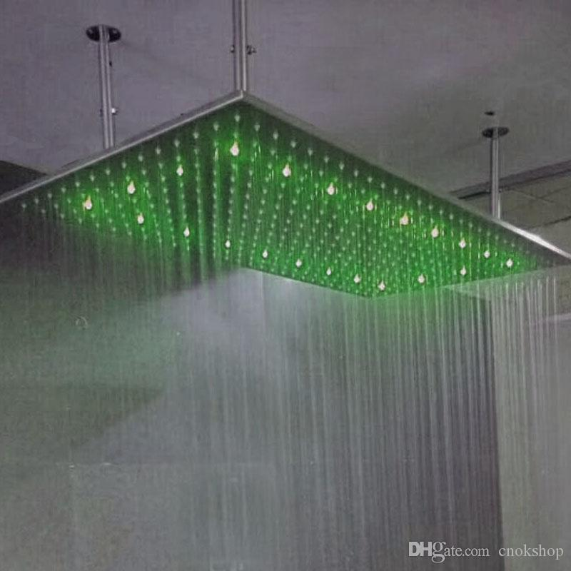 2018 High Flow Shower Heads Led Square Bathroom Shower Head With