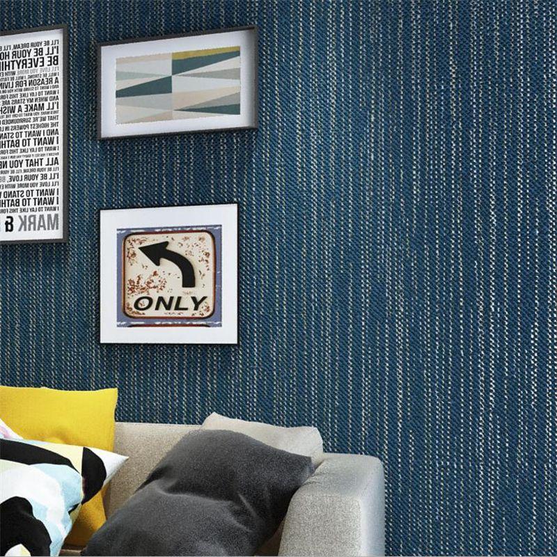 Beibehang Modern Plain Dark Blue Wallpaper Room Living Restaurant Clothing Store Environmental 3d Roll Murals Wallpapers Hd Free