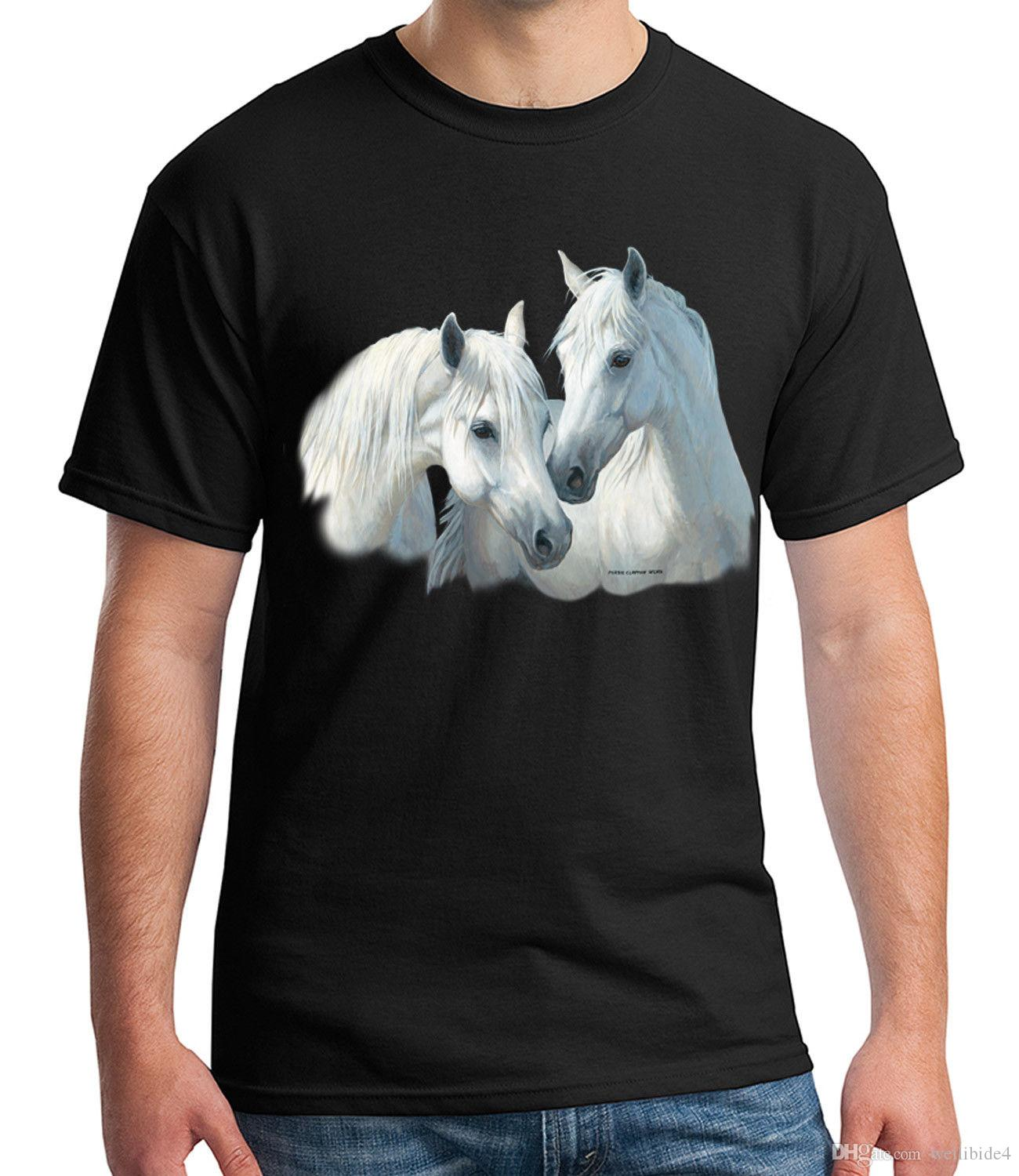 0fd916b8 White Horses Adult'S T Shirt Stable Mates Horse Tee For Men 1491C  Streetwear Funny Print Clothing Hip Tope Mans Tops Tees Online Shop T Shirt  Shirts ...