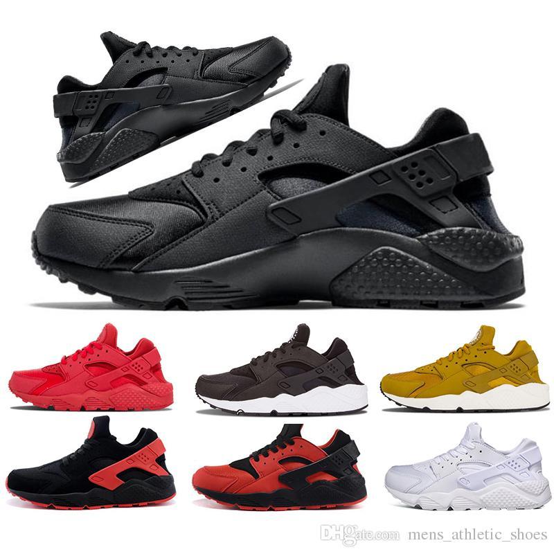 quality design bafc1 eed50 Compre Air Huarache 4.0 Hombres Zapatos De Diseño Hurache 1.0 Triple Negro  Blanco Rojo Oro Zapatillas De Deporte Para Hombre Zapatillas De Deporte  Mujer ...