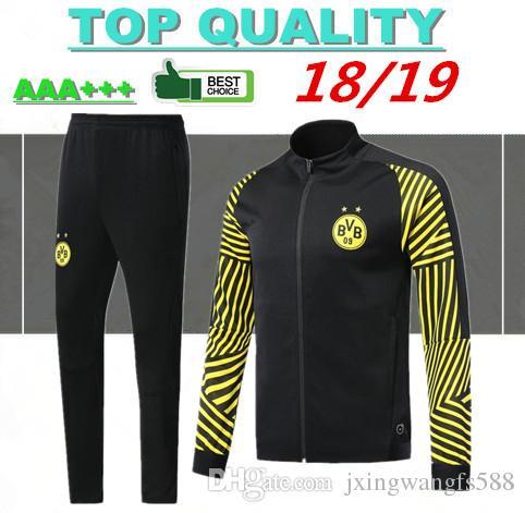 40291c97a 2019 2018 2019 Borussia Dortmund Soccer Jacket Tracksuit 18 19 Survetement  REUS PULISIC M.GOTZE Dott Clothes Sports Wear Football Jacket Kits From ...